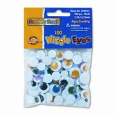 Wiggle Eyes Assortment, Assorted Colors, 100 Pieces per Pack