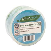 "Caremail Packaging Tape, Hand-Tear, 2.6 mil, 1.88"" x 40 yards, Clear"