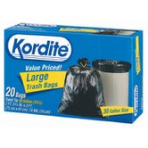 (20 per Carton) 30 Gallon Kordite Large Trash Bag