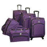 Plaid 5 Piece Luggage Set