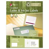 Recycled Name Badge Labels, 400/Box