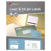 White All-Purpose Labels, 2 x 4, 1000/Box