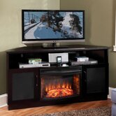 "61"" TV Stand with Curved Electric Fireplace"