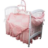 Sherbert Pink Crib Bedding Collection