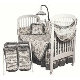 Etoile Black Crib Bedding Collection