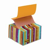 Stay-in-Place Pop-Up Notes Dispensers, 3 x 3, Multicolor Stripes