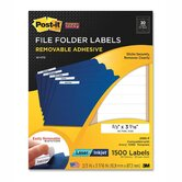 Super Sticky Removable File Folder Label, 1500 Pack