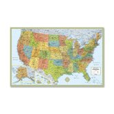 "United States Laminated Wall Map, 50""x32"""