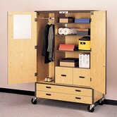 Storage Cabinet with File Drawers and Shelving