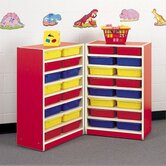 Koala-Tee 38&quot; H Mobile Folding Storage Unit with Optional Trays