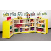 Koala-Tee Mobile Tri Folding Cubby Storage Shelves