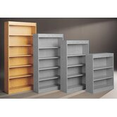 "Library 82"" H Six Shelf Double Sided Bookcase"