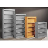 Library 60&quot; H Four Shelf Double Sided Bookcase