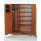 "Illusions 84"" H Teacher Wardrobe with Six Adjustable Shelves"