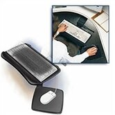 Solutions Adjustable Keyboard Tray with Mouse Pad Surface