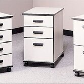 Solutions Three-Drawer Mobile File Cabinet - Box/Box/File