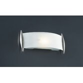Scroll Vanity Light  in Satin Nickel
