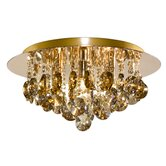 Hanna Four Light Flush Mount in Gold