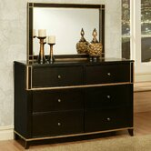Soho 6 Drawer Dresser and Mirror Set