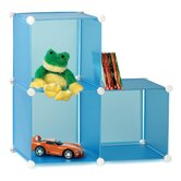 Three Pack Modular Storage Cube in Translucent Blue