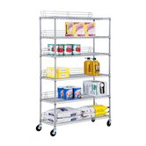 Six Tier Urban Shelving Unit in Chrome