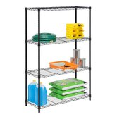 Four Tier Shelving Unit in Black