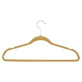 Velvet Touch Suit Hanger in Tan and Camel (50 Pack)