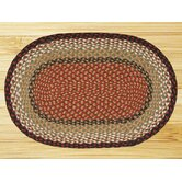 Burgundy/Mustard Rug