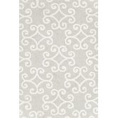 Hooked Scroll Platinum Rug