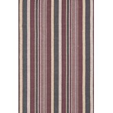 Woven Cotton Plum Stripe Rug