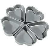 4&quot; Non-Stick Linked Heart Pan (Set of 5)