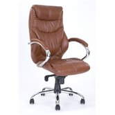 High Back Executive Chair with Chrome Armrest