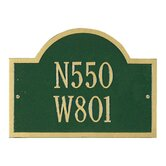 Wisconsin Special Standard Wall Address Plaque