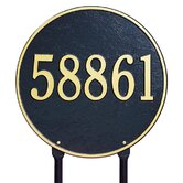"15"" Round Lawn Address Plaque"
