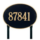 Hawthorne Oval Estate Lawn Address Plaque