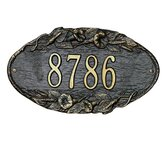 Morning Glory Standard Wall Address Plaque