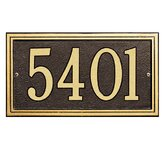 Double Line Standard Wall Address Plaque