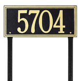 Double Line Estate Lawn Address Plaque
