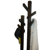 Double Tree Coat Rack in Dark Walnut
