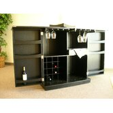Steamer Trunk Bar Cabinet in Ebony