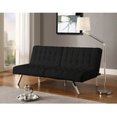 Emily Faux Leather Convertible Futon
