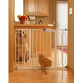 Extra-Wide Pet Gate with Pet Door