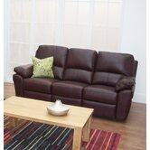 Monzano Three Fixed Seat Sofa in Chestnut
