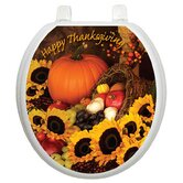 Holiday Toilet Seat Applique with Bountiful Harvest Design