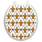Classic Toilet Seat Applique with Fleur-de-lis Design