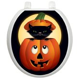 Seasonal Toilet Seat Applique with Peek-a-boo Kitty Design