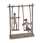 Children on Swings in Cast Bronze