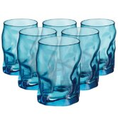 Sorgente Water Glasses in Sky Blue - Set of 6