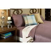Duvet Cover Collection in Plum and Ivory