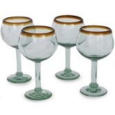 Globe Wine Glass in Amber (Set of 4)
